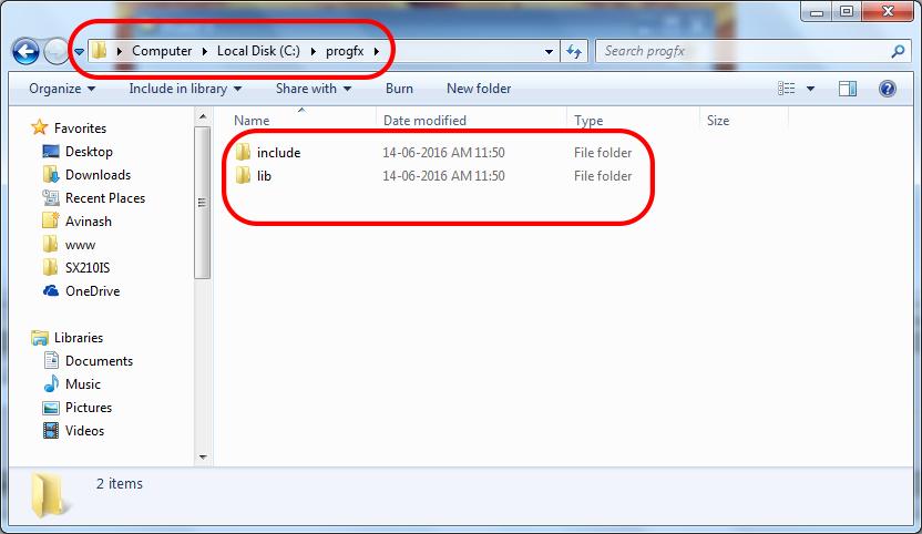 location of progfx files