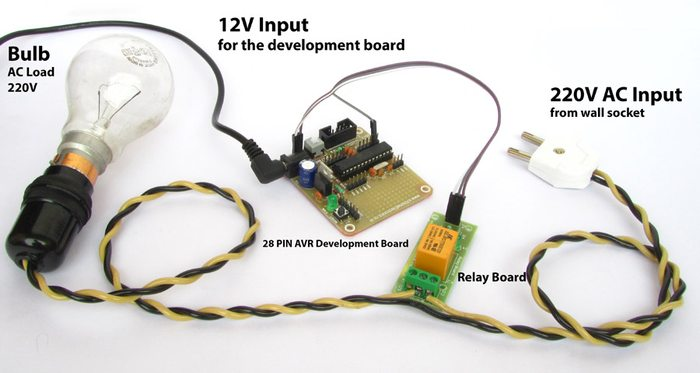 relay interface AVR ATmega8