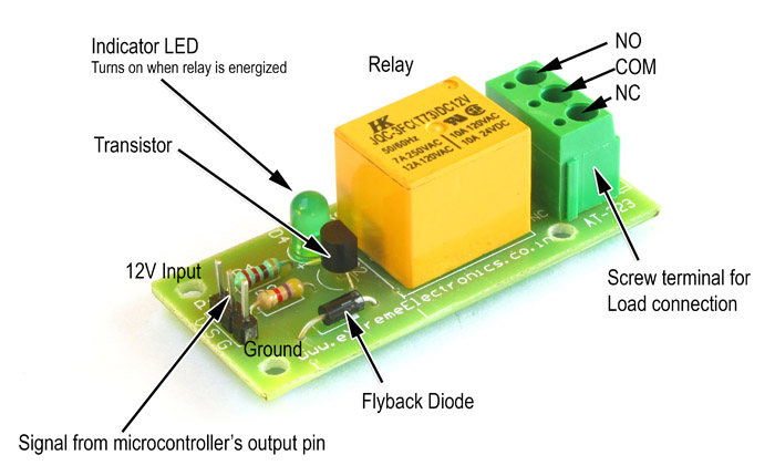 Relay Module    Breakout Boards    Extreme Electronics