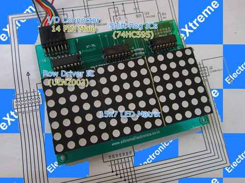 15x7 LED Matrix Board