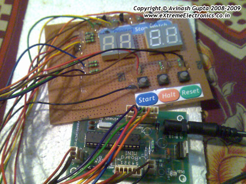 digital stop watch circuit