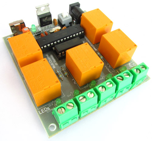 Multichannel IR Remote using AVR ATmega8