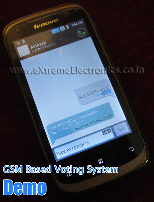 GSM Based Voting Project Demo