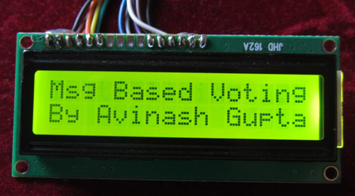 sms based voting system using avr microcontroller
