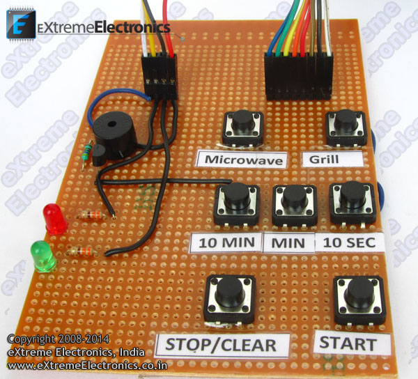 keypad for microwave timer