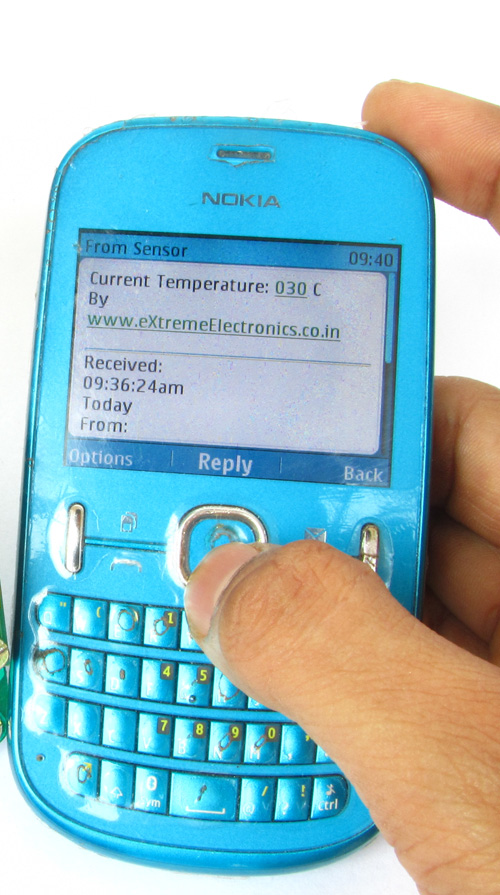 reply from temperature sensor