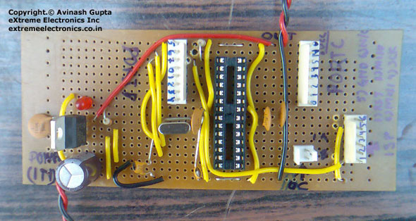simple atmega8 board