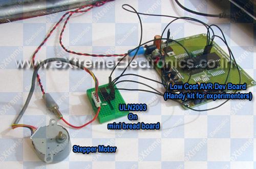 Stepper Motor + AVR + Atmega16 + ULN2003A