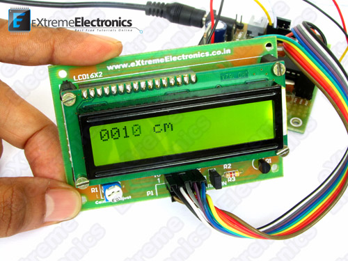 ATmega8 ultrasonic interface demo