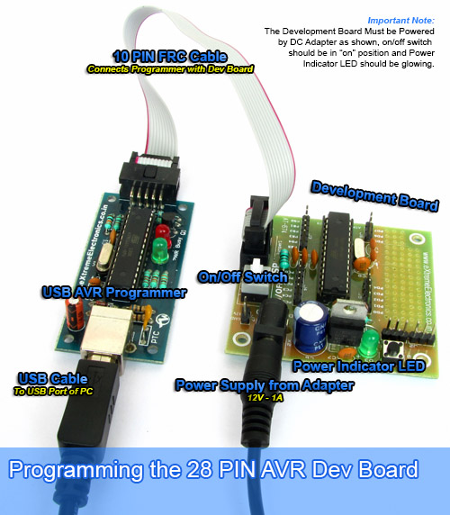 AVR28DEV Programming