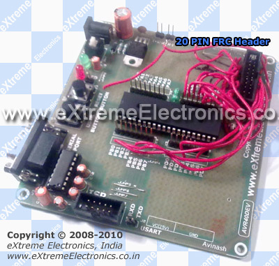 avr development board with glcd