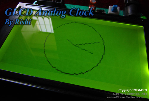 GLCD Analog Clock using ATmega32