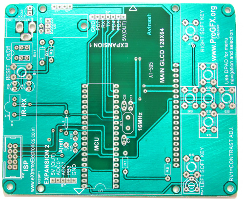 AVR GLCD Development Board