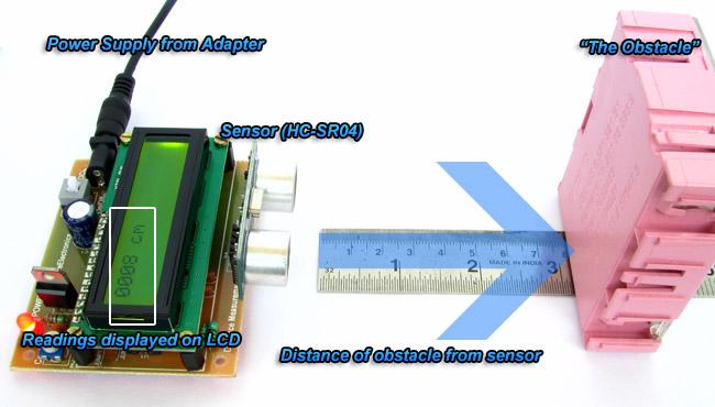 HC-SR04 ATmega8 Demo