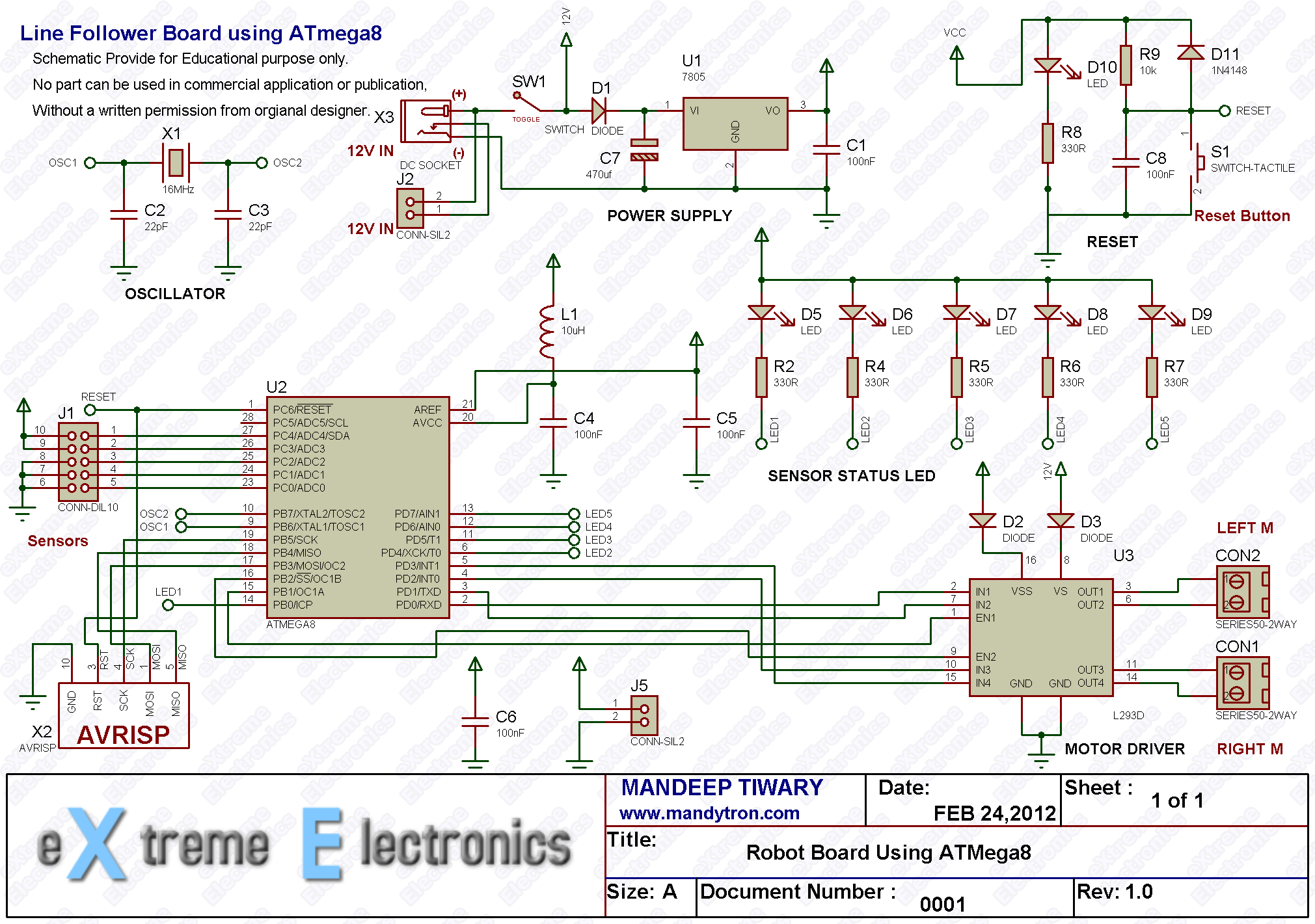 Line Following Robot Using Avr Atmega8 Pid Wiring Diagram Follower Board