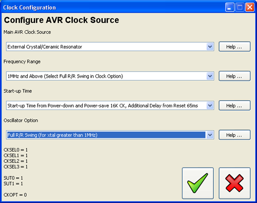AVR Clock Configuration