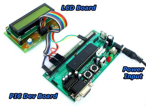 pic development board and lcd board