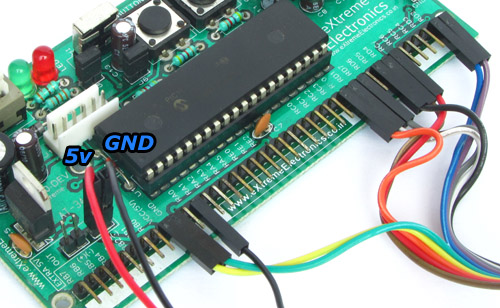 5v and GND connection on dev board