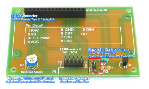 16x2 lcd board description
