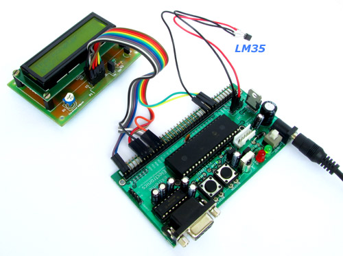 Plug LM35 into the dev board