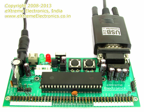 PIC Dev Board Serial Communication