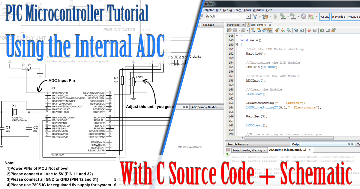 Using Analog to Digital Converter – PIC Microcontroller Tutorial