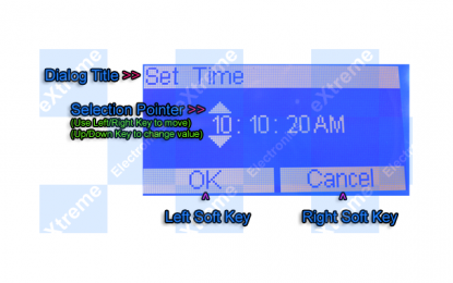 Time Input Dialog for Graphic LCD
