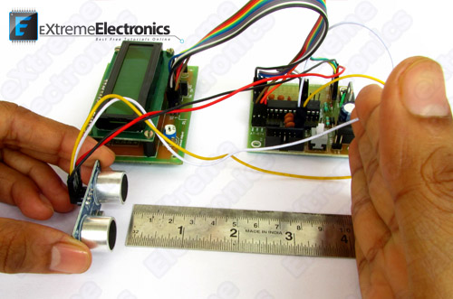 ATmega8 HC-SR04 Ultrasonic Sensor Interface Demo